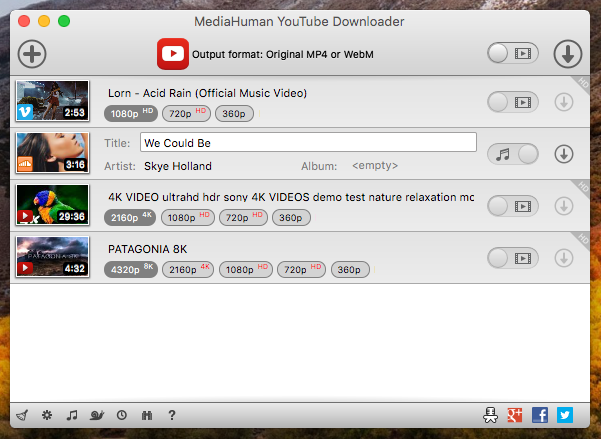 MediaHuman YouTube Downloader 3.9 for Mac Free Download