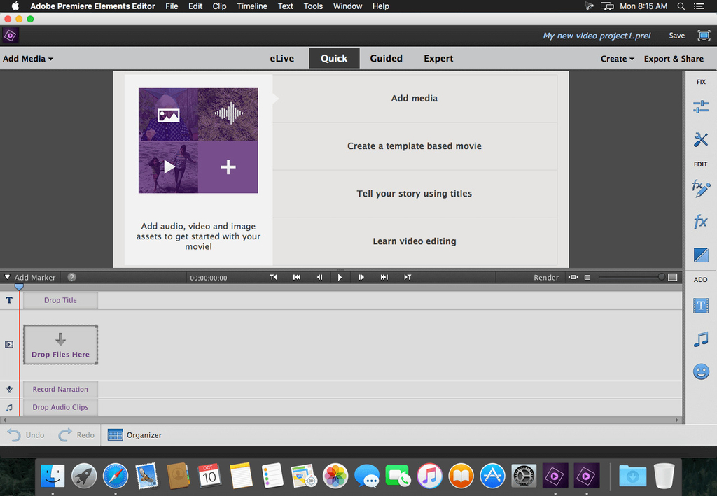 Adobe Premiere Elements 2020.1 18.1 for Mac Free Download