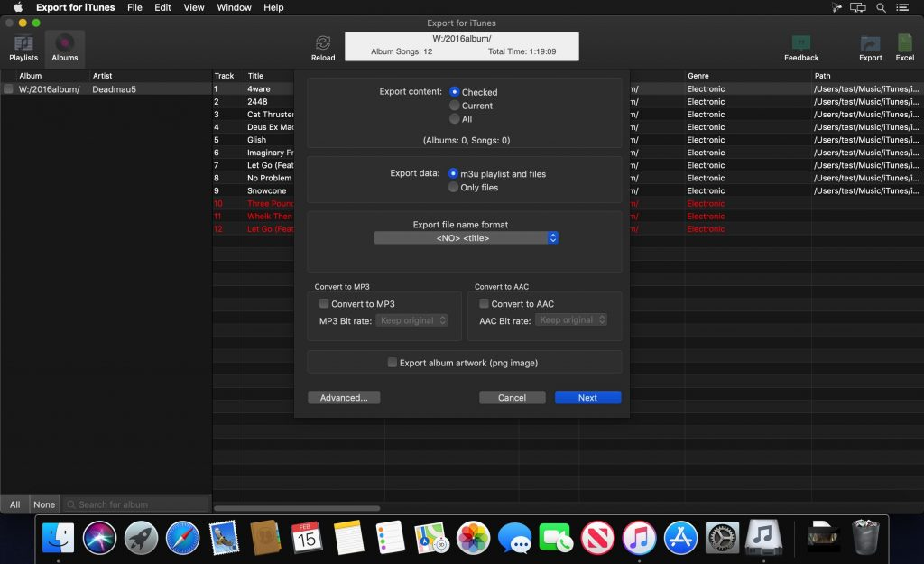 Export for iTunes 2 for Mac Free Download