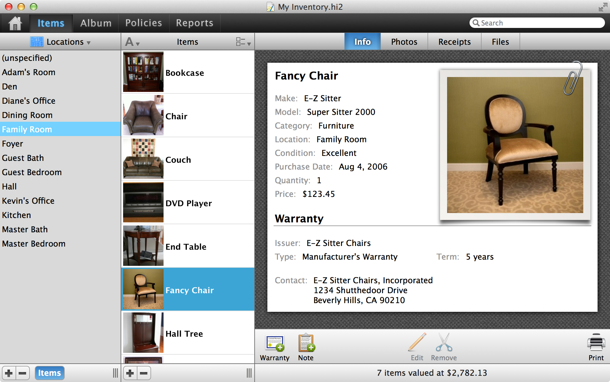 Home Inventory 3 for Mac Free Download