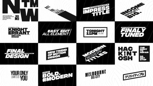 Big Bold Titles for FCPX Free Download