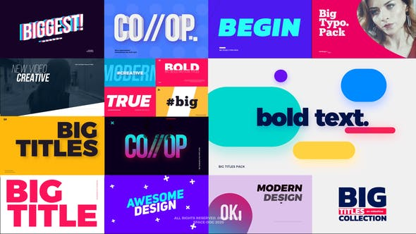 Big Bold Titles for FCPX Full Version Free Download