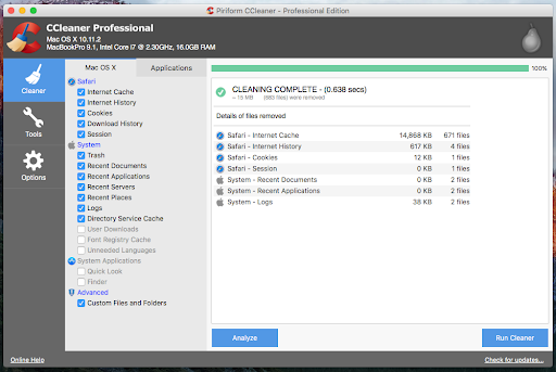 CCleaner Pro for Mac Direct Download Link