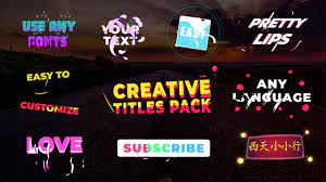 Download Creative Titles for FCPX
