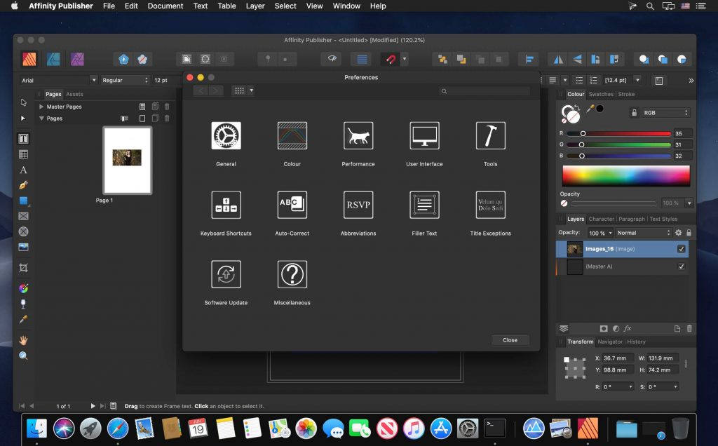 Affinity Publisher Beta 10 Free Download all mac world