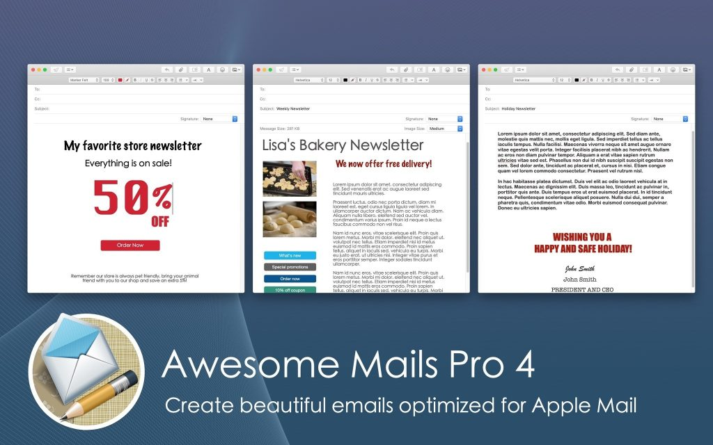 Awesome Mails Pro 4 for macOS Free Download