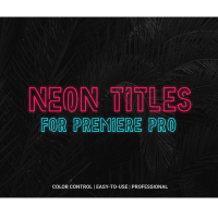 Download VideoHive Neon Lights Titles 4K