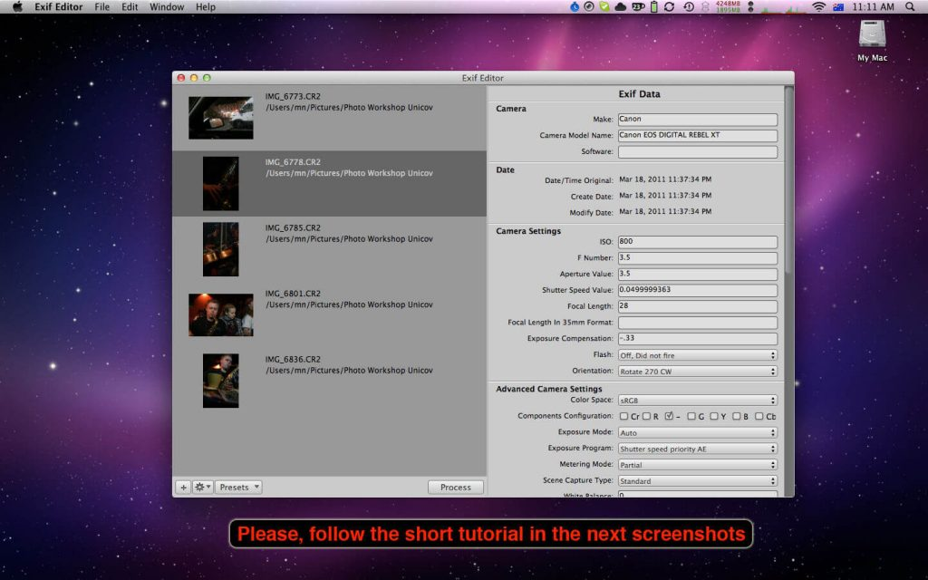 Exif Editor for MacOS Free Download