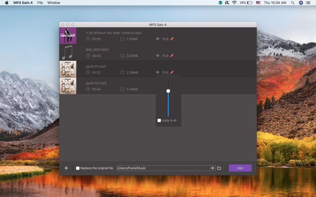 MP3 Gain 4 for Mac Free Download