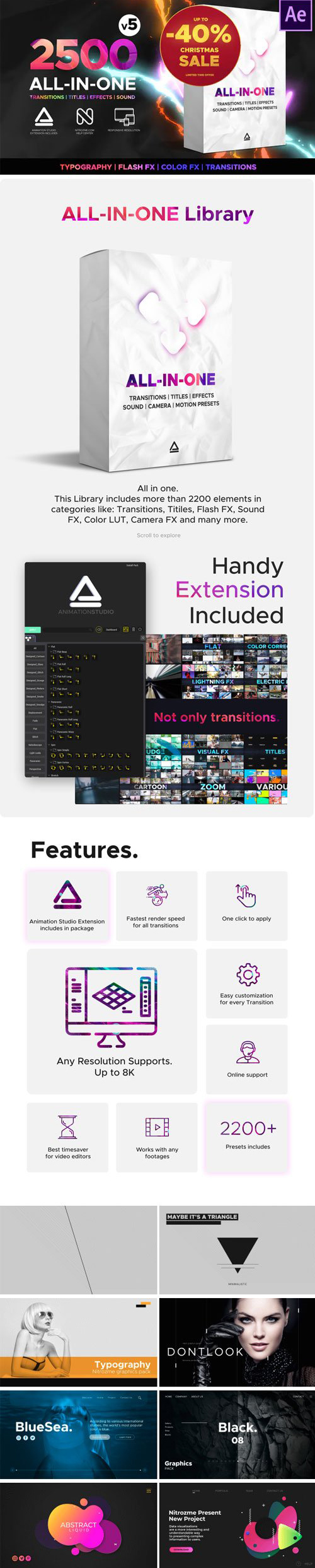Videohive Transitions and Effects v5 Complete Pack