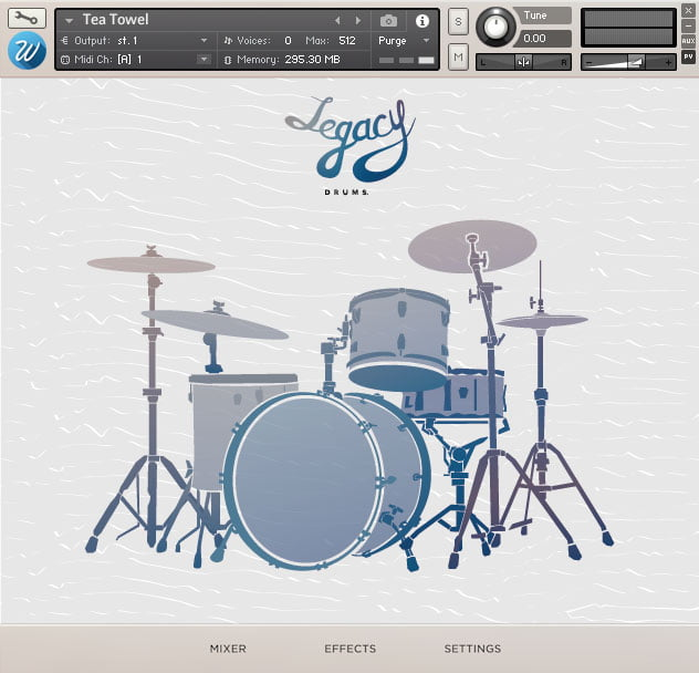 Wavesfactory Legacy Drums KONTAKT Library for Mac Free Download